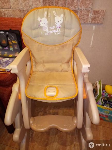 продам стульчик для комления стульчик для кормления leader kids, d-008 (беж+оранж). Фото 2.
