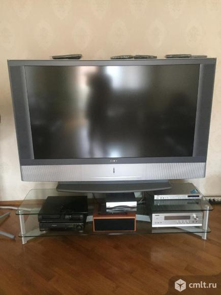 Телевизор ж/к Sony Кинотеатр sony KF-60SX300K с тумбой (стекло. Фото 1.