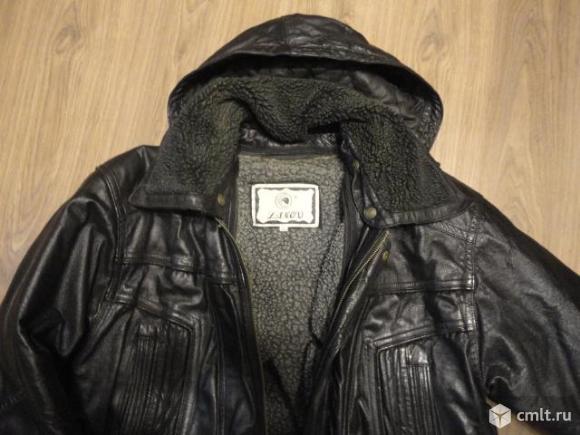 Кожаная куртка мужская. Фото 1.
