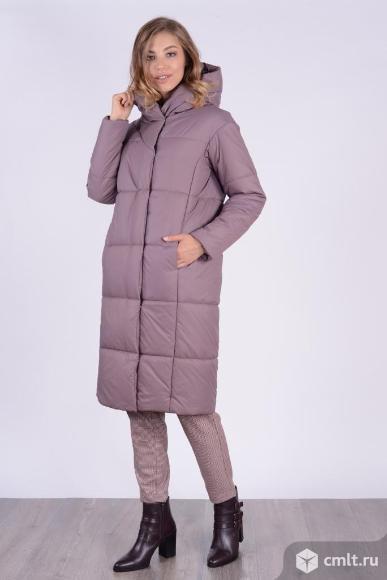 Пальто женское зимнее новое, р. 48, цвет кофе. Фото 1.