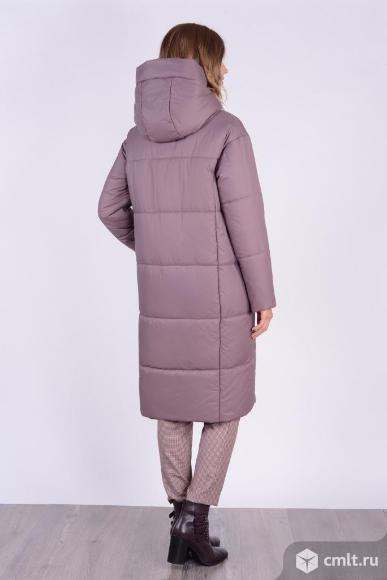 Пальто женское зимнее новое, р. 48, цвет кофе. Фото 4.