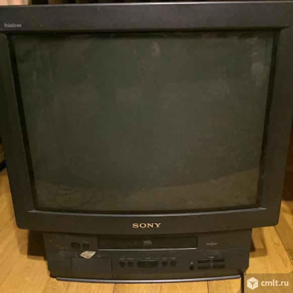 Телевизор кинескопный цв. Sony двойка. Фото 1.