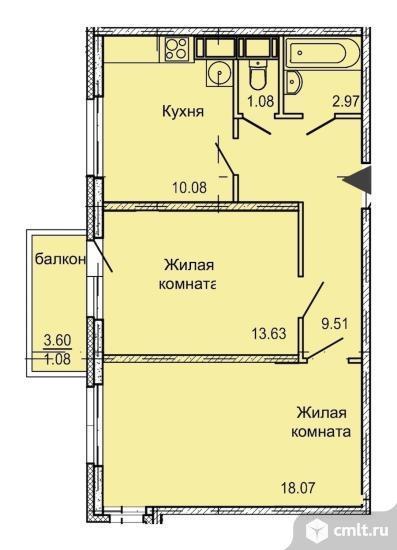 2-комнатная квартира 56 кв.м. Фото 4.