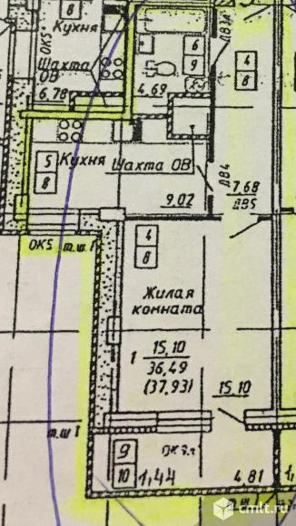 1-комнатная квартира 41 кв.м. Фото 11.