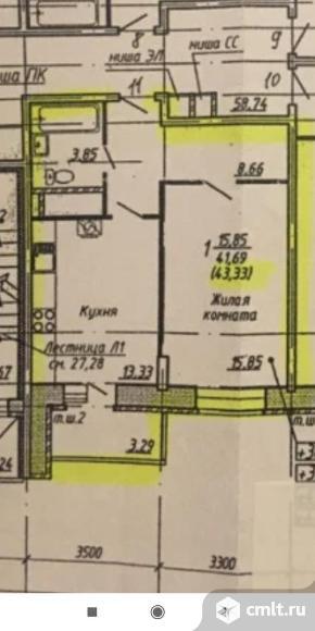 1-комнатная квартира 43,3 кв.м. Фото 7.