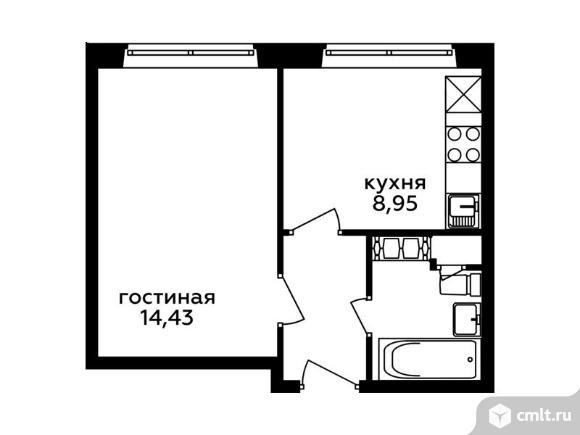 1-комнатная квартира 30,31 кв.м. Фото 1.