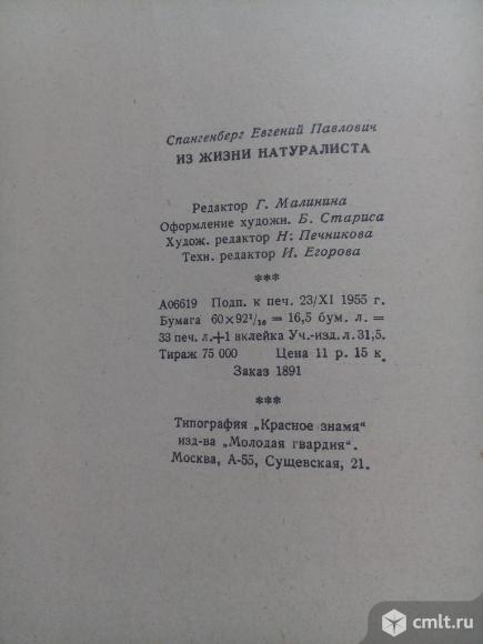 Спангенберг. Из жизни натуралиста. 1955 год. Фото 11.