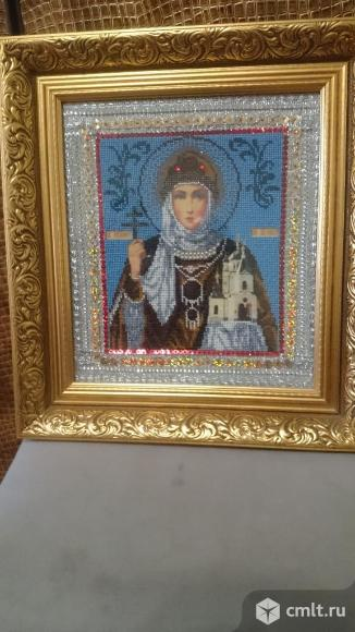 Икона из бисера Св. равноапостольная княгиня Ольга. Фото 1.