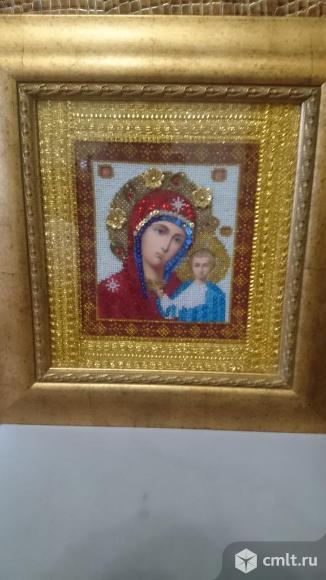 Икона из бисера бм Казанская. Фото 1.