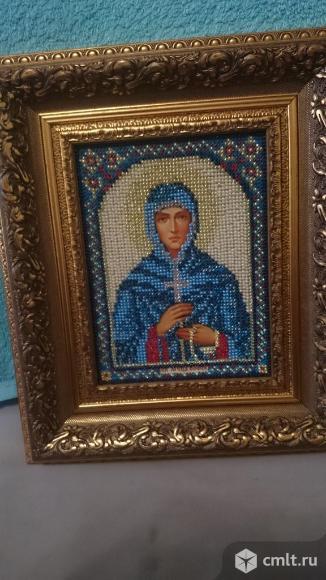 Именная икона из бисера св. муч. Софии. Фото 1.