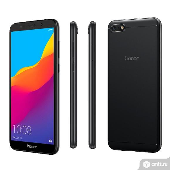 Как новый, гарантия смартфон Honor 7A 16Gb Black (DUA-L22). Фото 1.