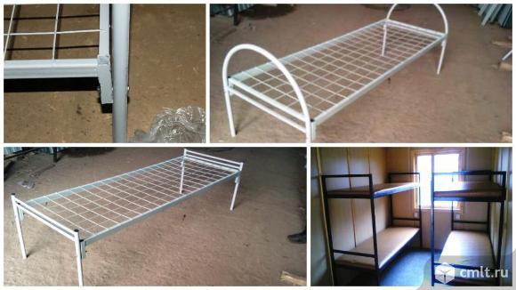 Кровати для строителей, металлические, надежные. Фото 1.