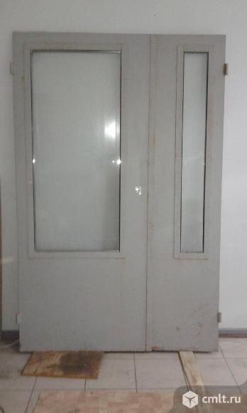 Продам входную, двойную, остеклённую дверь. Фото 1.