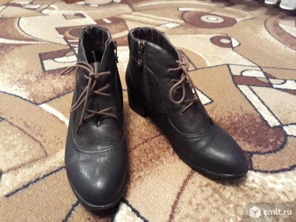 Ботинки кожаные новые. Фото 2.