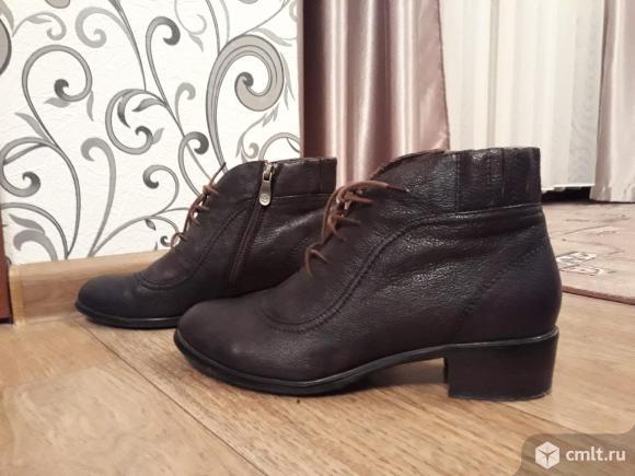 Ботинки кожаные новые. Фото 1.