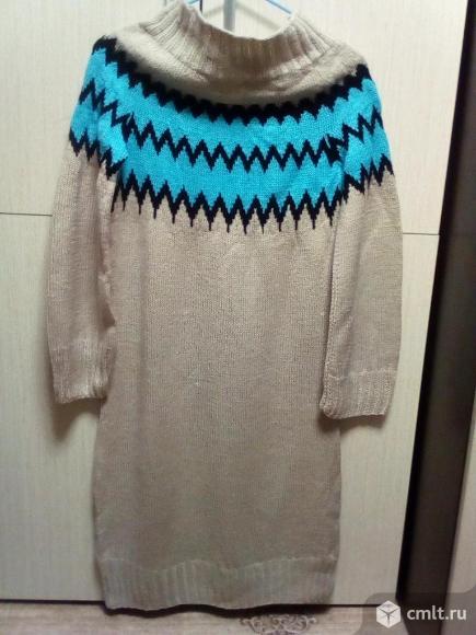 Платье-туника с зигзагообразным узором. Фото 1.