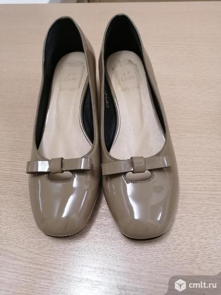 Туфли лаковые 36, 37 р новые. Фото 1.
