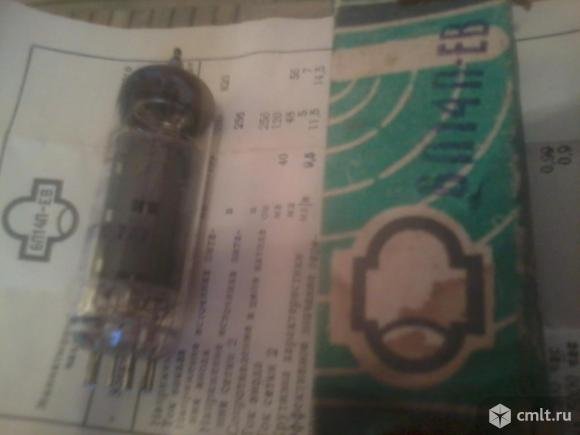 Радио лампа 6п14п-ев. Фото 1.