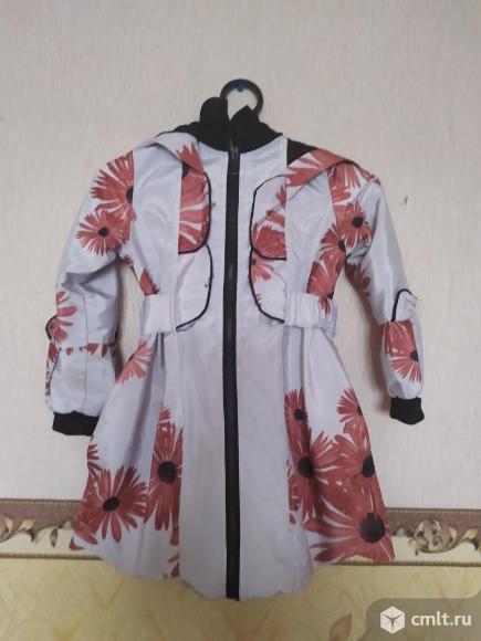 Продаю демисезонное пальто для девочки. Фото 1.