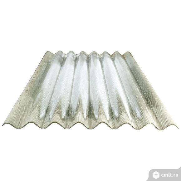 Шифер СТО 1740х1130х5.2мм/8 волн, серый. Фото 1.