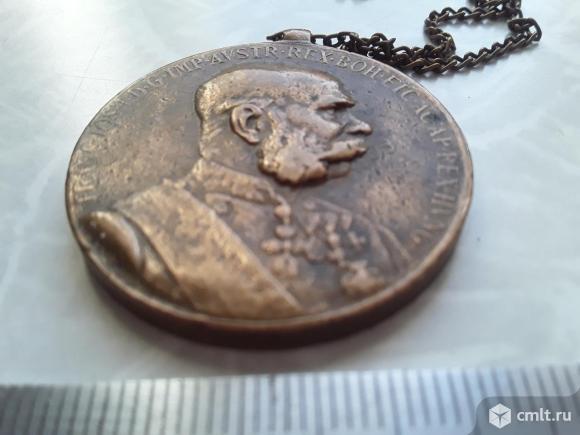 Медаль В память 50-летия правления Франца-Иосифа. Фото 5.