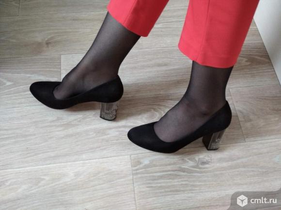 Туфли чёрные размер 40. Фото 1.