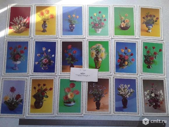 18 шт. Набор открыток Цветы. Флора. Чехословакия. Братислава.. Фото 1.