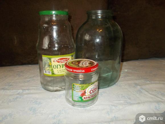 Продажа стеклянных банок с крышками. Фото 1.