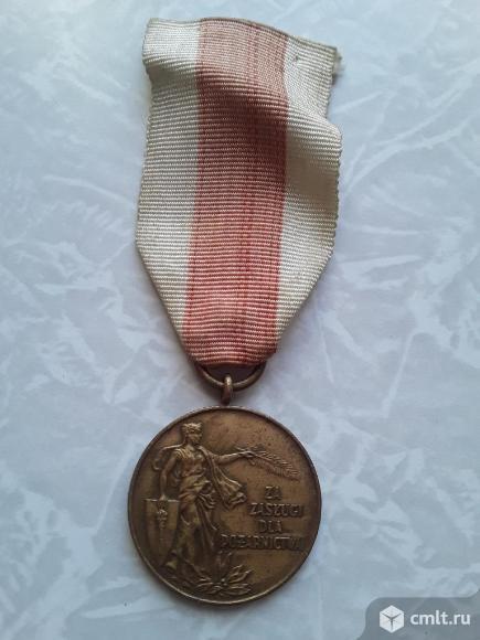 Польша. Медаль За Заслуги в пожарном деле. Фото 1.