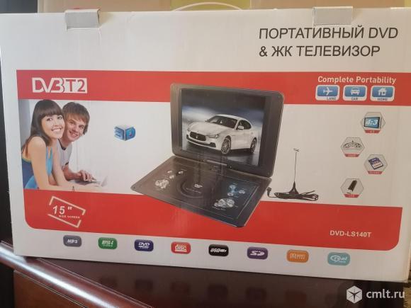 Телевизор ж/к LS-140T с функцией DVD портативный. Фото 1.