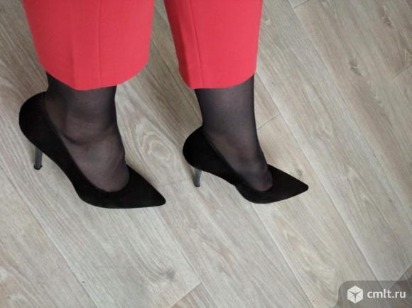 Туфли чёрные размер 38,5. Фото 1.