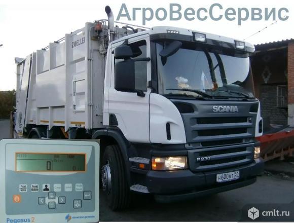 Бортовая система взвешивания ВМК-1000 на мусоровозы. Фото 1.
