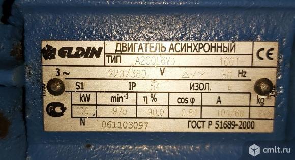 Электродвигатель А200L6 (30кВт/1000), пр-ва «ELDIN» г. Ярославль. Фото 4.