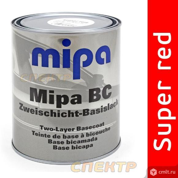 Автоэмаль Mipa Super red (1л) база под лак. Фото 1.