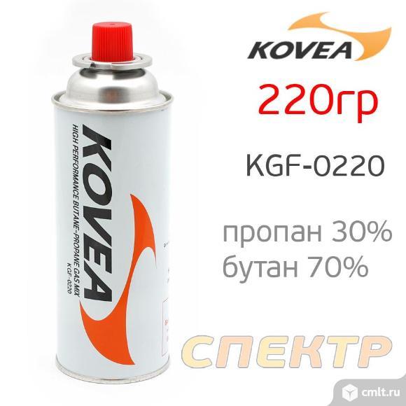 Газовый балон KOVEA (220гр) пропан 30%, бутан 70%. Фото 1.