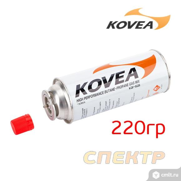 Газовый балон KOVEA (220гр) пропан 30%, бутан 70%. Фото 3.