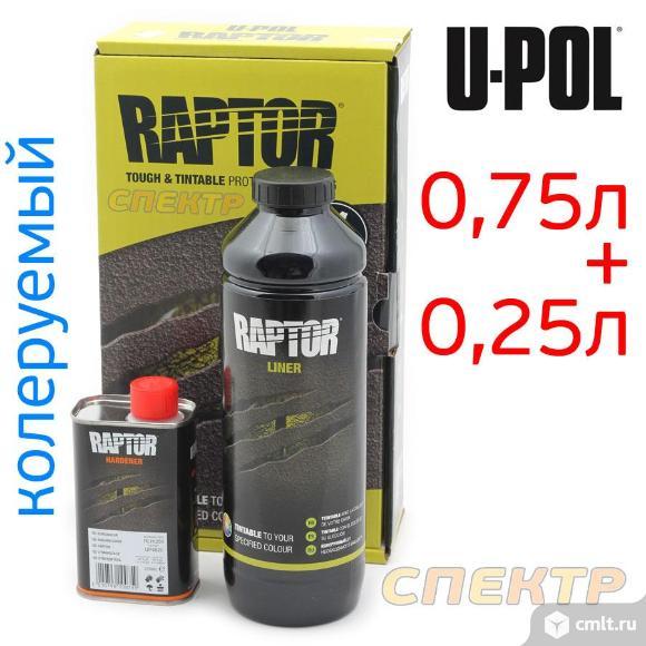 Сверхпрочное покрытие U-POL Raptor черное (1л). Фото 1.