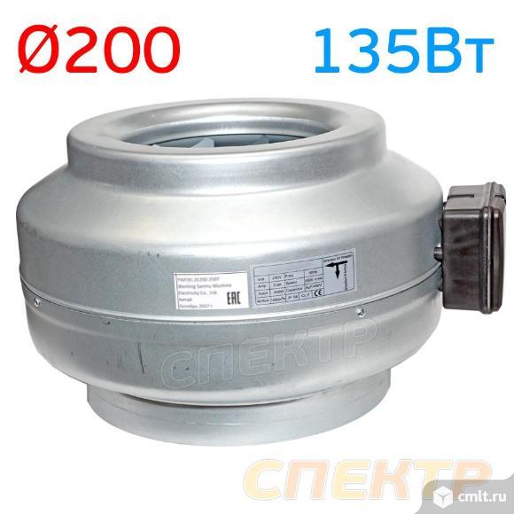 Вентилятор канальный ВКК-200М металлический корпус. Фото 3.