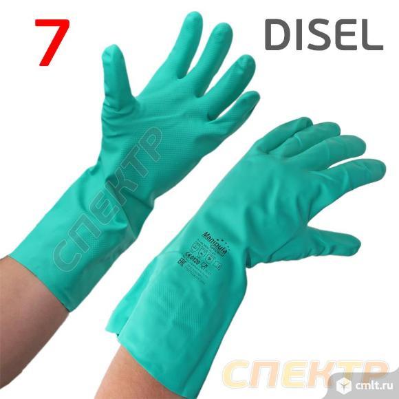Перчатки из нитрилового каучука Manipula (р.7) КЩС. Фото 1.