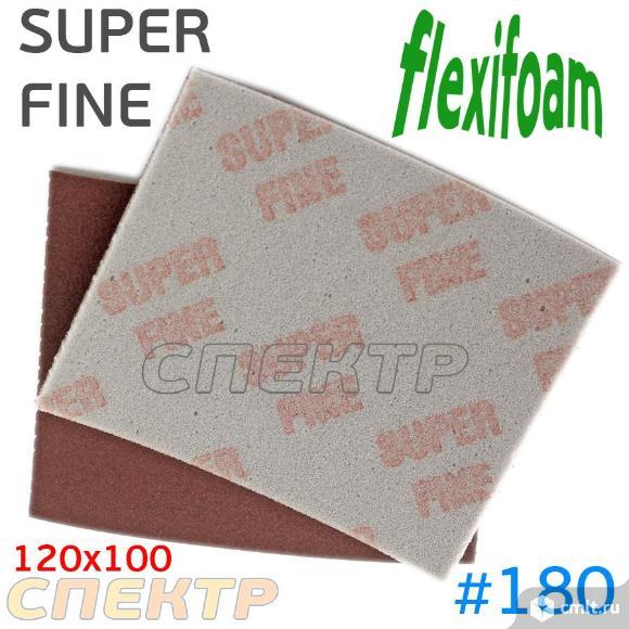 Губка абразивная Flexifoam 120x100мм SUPER FINE. Фото 1.