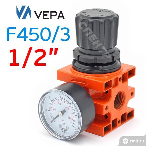 """Редуктор с манометром 1/2"""" VEPA F450/3 (0-16бар). Фото 2."""