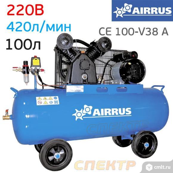 Компрессор AIRRUS CE 100-V38 A (220В, 420л/мин). Фото 1.