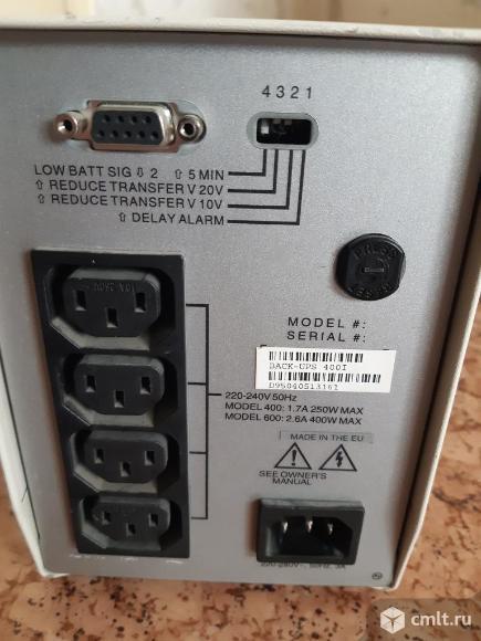 Бесперебойник APC Back-UPS 400i в комплекте с аккумулятором. Фото 2.