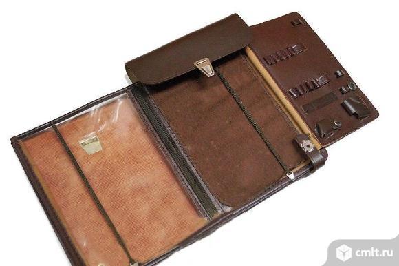 Сумка-планшет полевая офицерская кожаная / новая.. Фото 1.