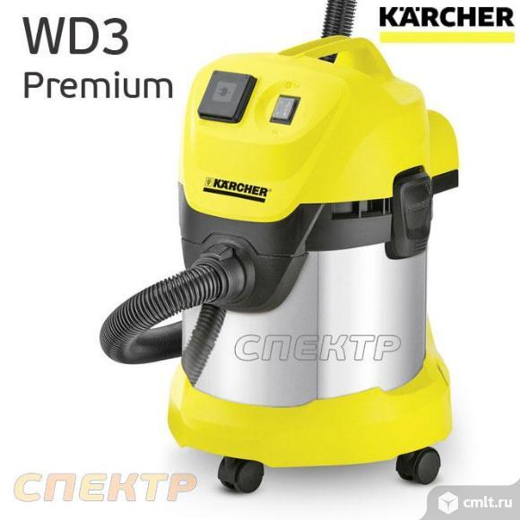 Пылесос KARCHER WD3 Premium (1 розетка, 220В). Фото 1.
