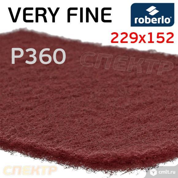 Скотч-брайт Roberlo VF красный Р360 (229х152мм). Фото 2.