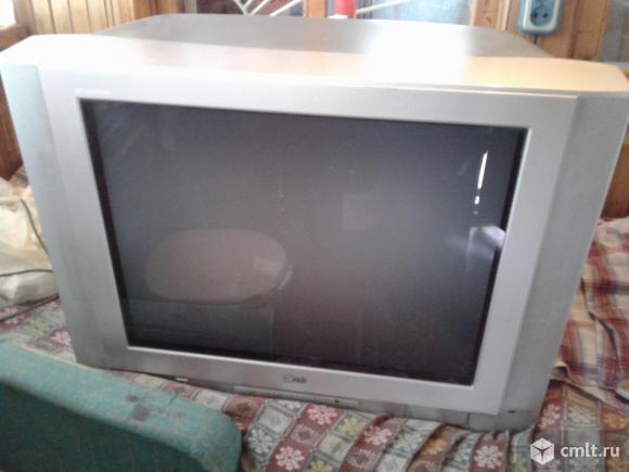 Телевизор кинескопный цв. LG. Фото 2.