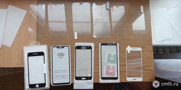 Стекла и пленки для разных телефонов новые. Фото 1.