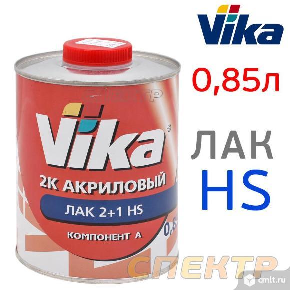 Лак VIKA HS (0,85л) акриловый прозрачный. Фото 1.