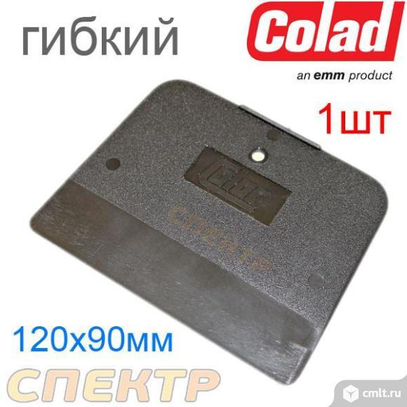 Шпатель Colad пластмассовый, черный, мягкий. Фото 1.